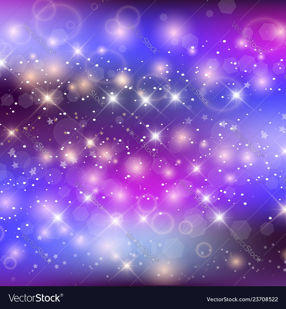 unicorn night galaxy background with rainbow mesh vector 23708522
