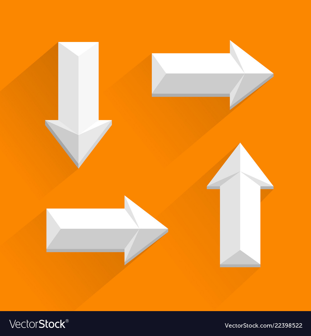 White arrows different directions