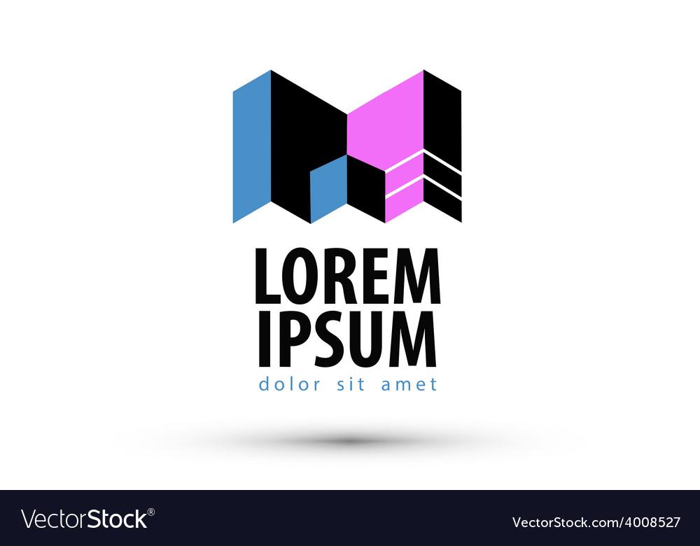 Company name logo design template busines vector image