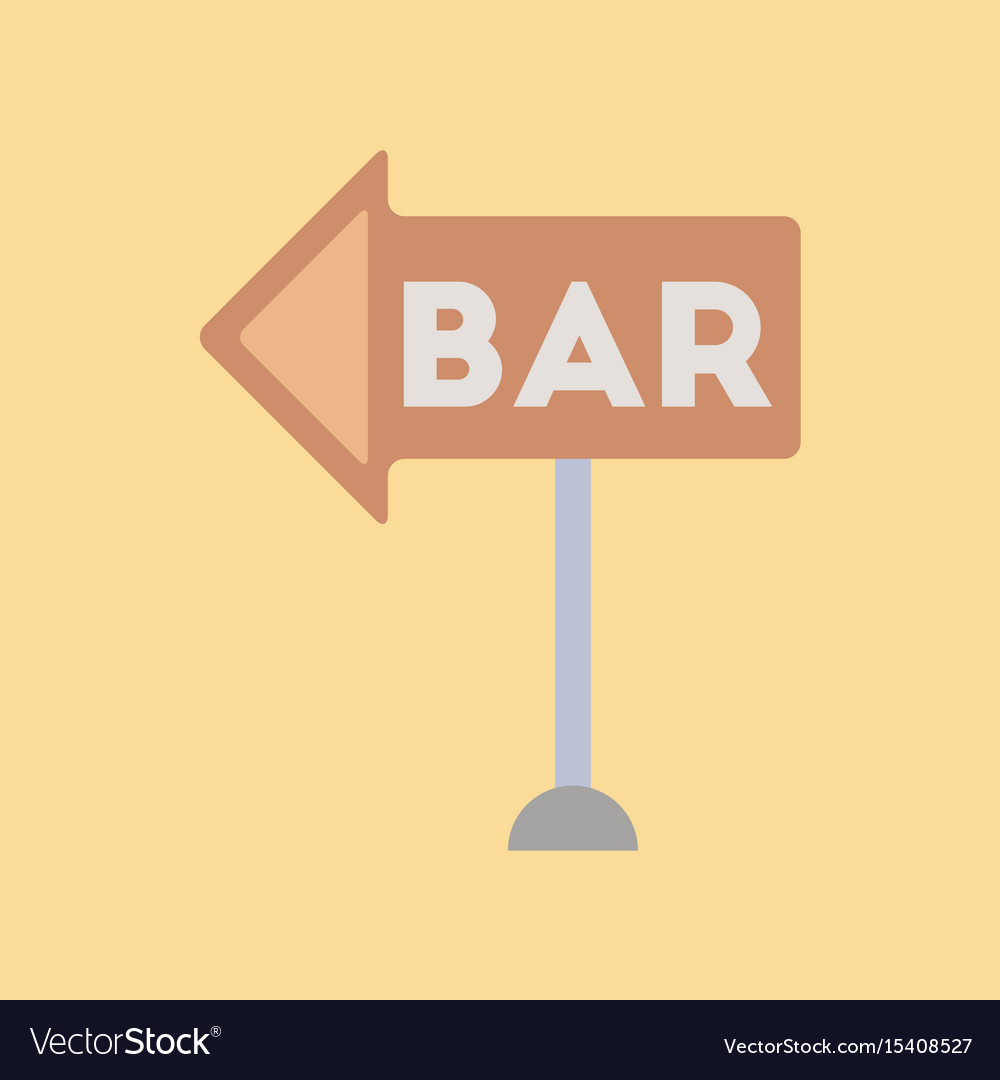 Flat icon on background poker bar sign