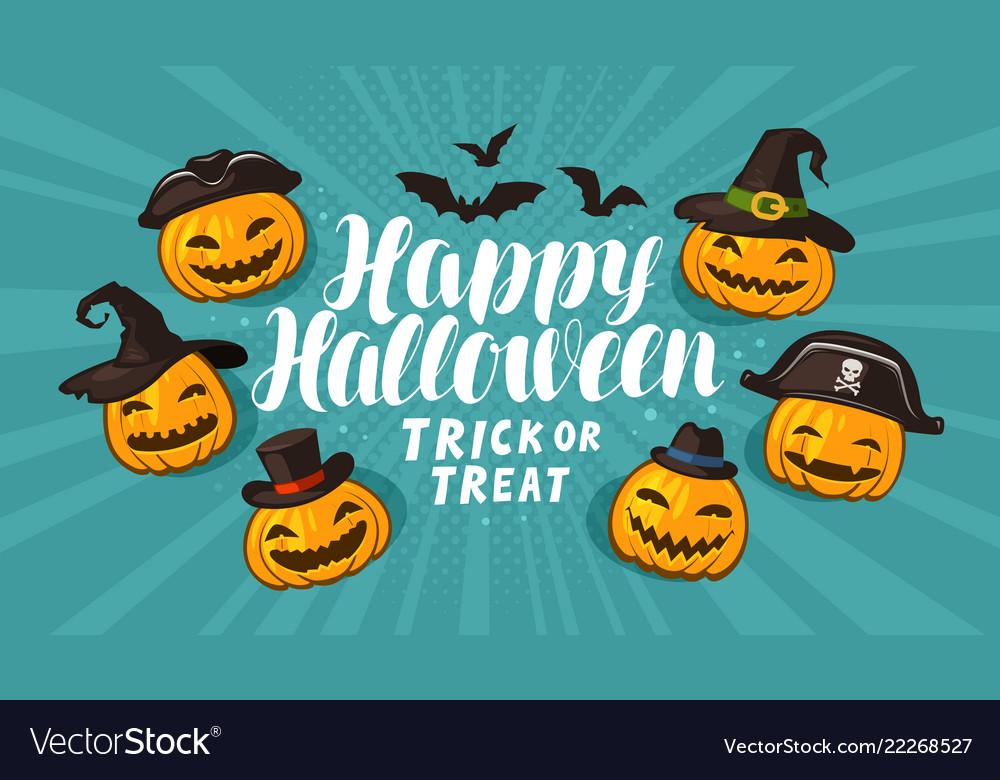 Halloween greeting card holiday banner cartoon