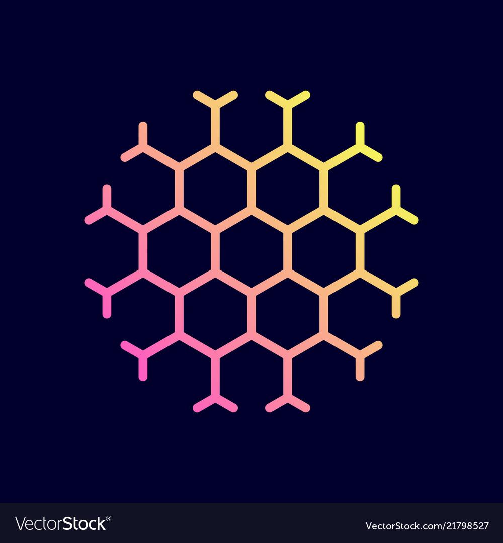Hexagon honeycomb icon Royalty Free Vector Image