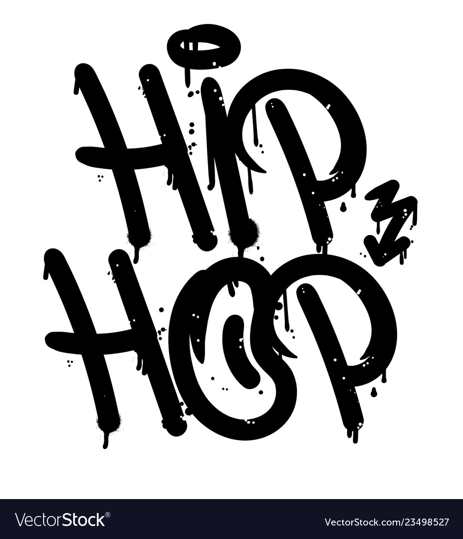 Hip hop graffiti tag