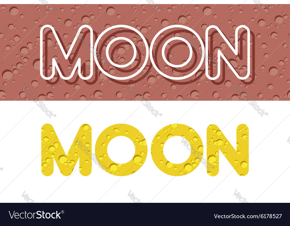 Moon Letters from Lunar yellow texture