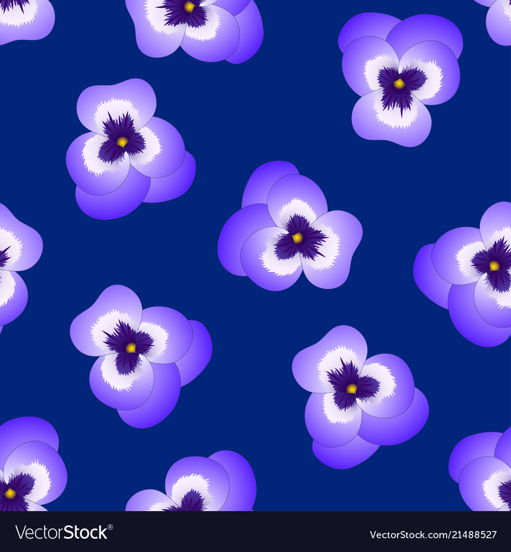 Violet pansy flower on navy blue background vector image izmirmasajfo