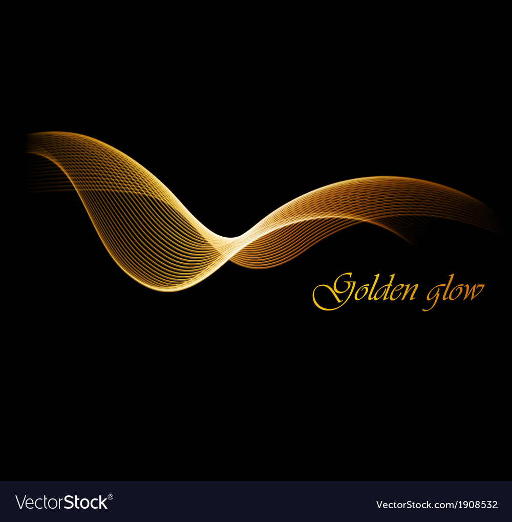 Abstract digital art background with gold line vector image