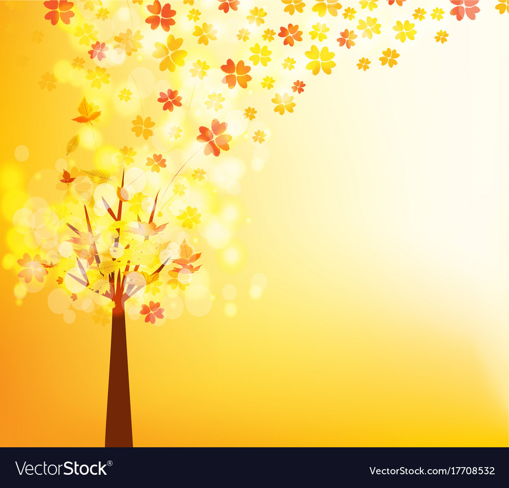 An autumn design autumn tree background