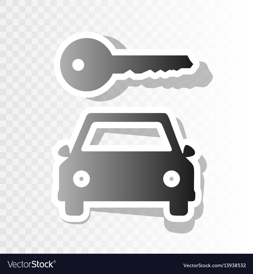 Car key simplistic sign new year blackish vector image