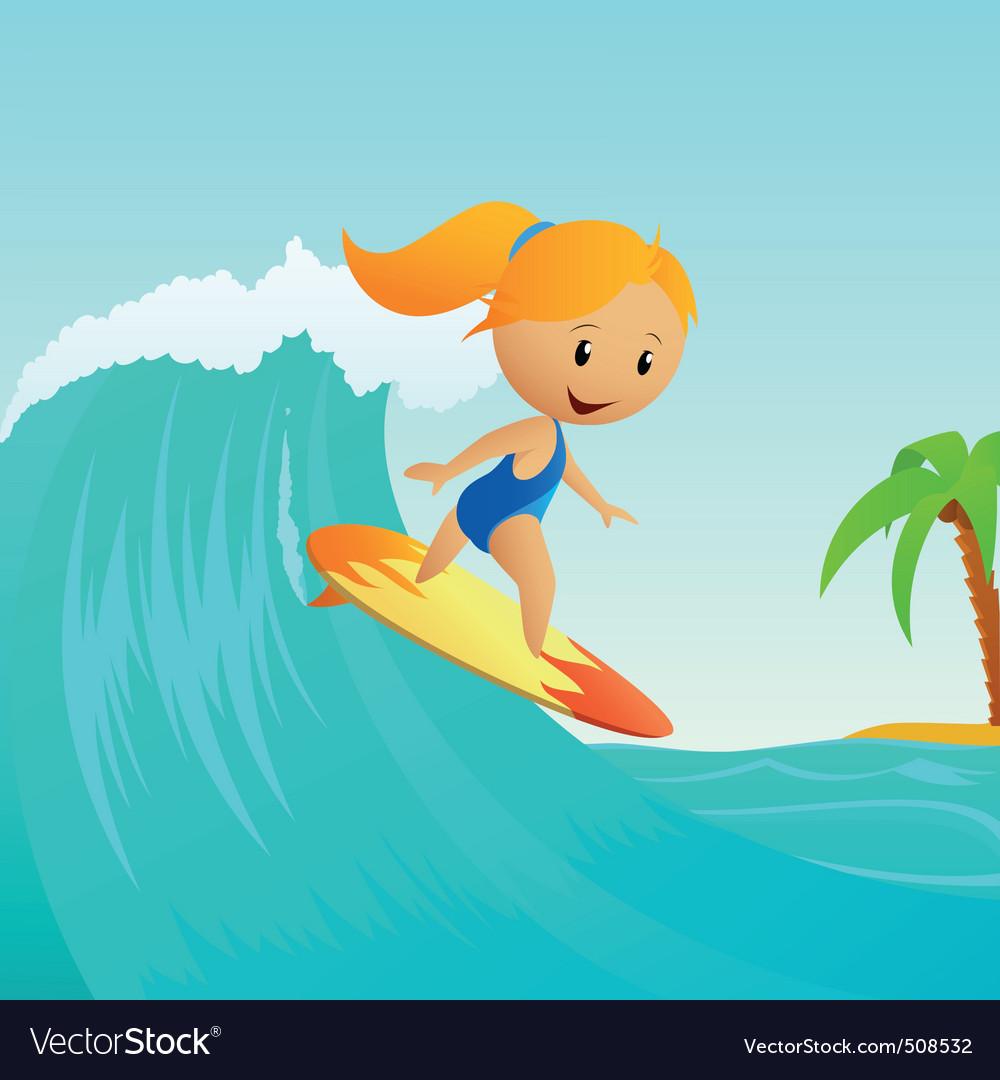 graphic print ocean waves vector aerial surfing