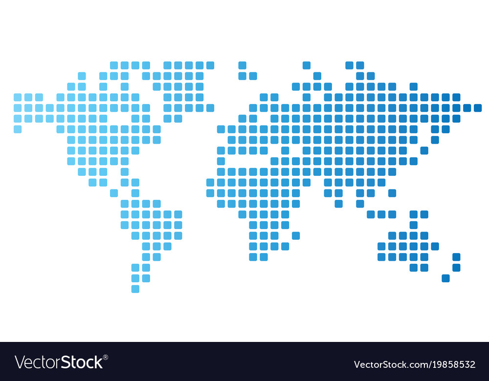 Dotted world map royalty free vector image vectorstock dotted world map vector image gumiabroncs