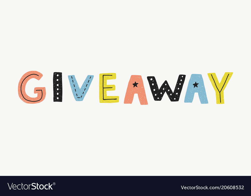 Giveaway Banner Template Royalty Free Vector Image