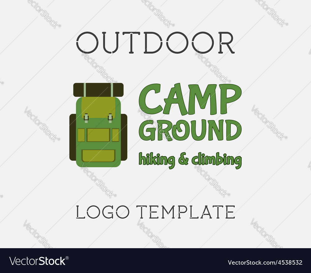 Hiking Logo Design vector image