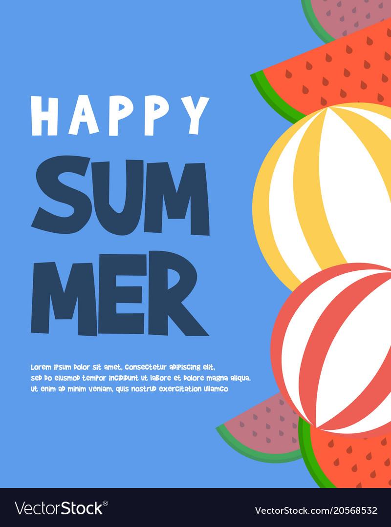Holiday summer happy tropical paradise