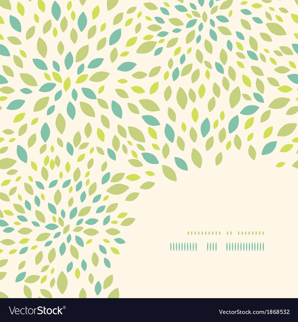 Leaf texture corner decor pattern background vector image
