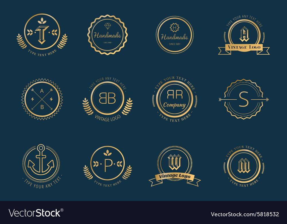 massive logo badges template bundle royalty free vector