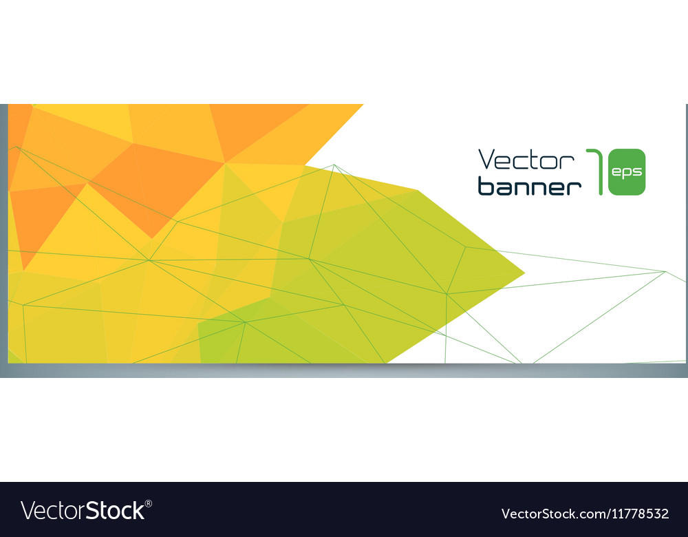 Modern banner with colorful polygonal