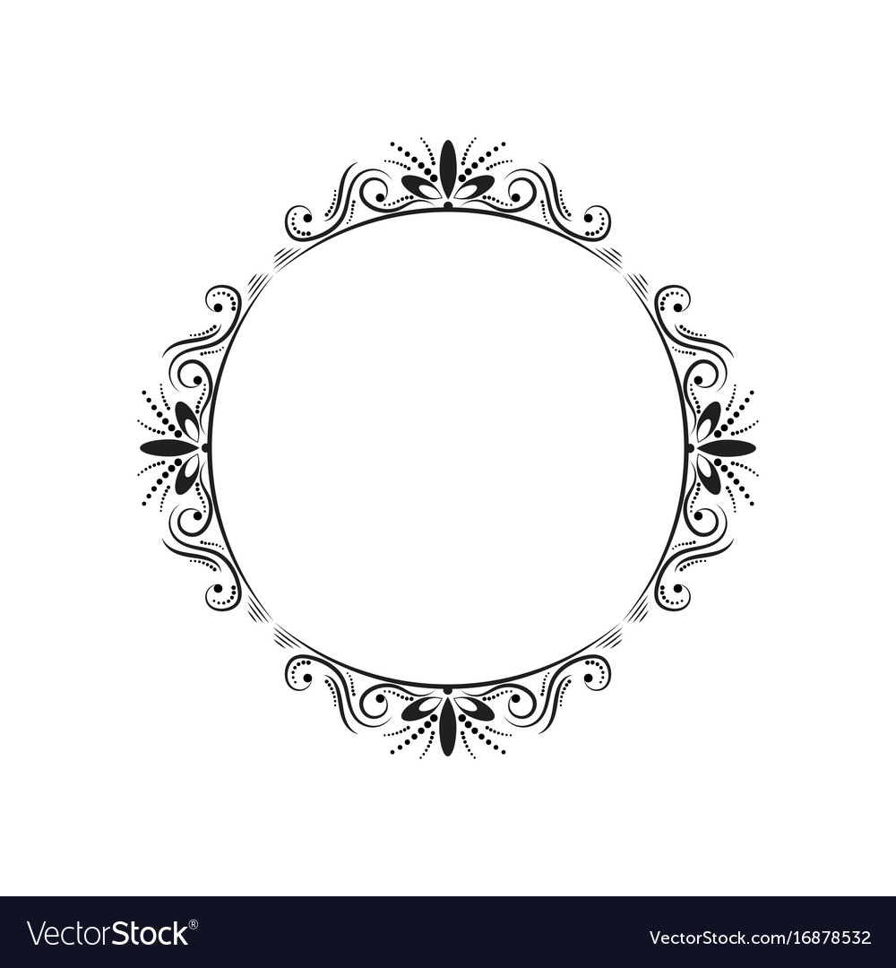 Round elegant vintage frame Royalty Free Vector Image