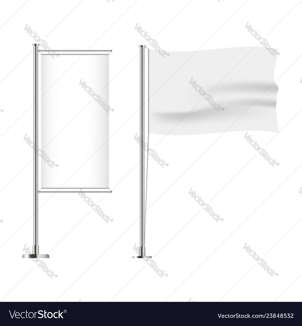 Set of flag horizontal and vertical