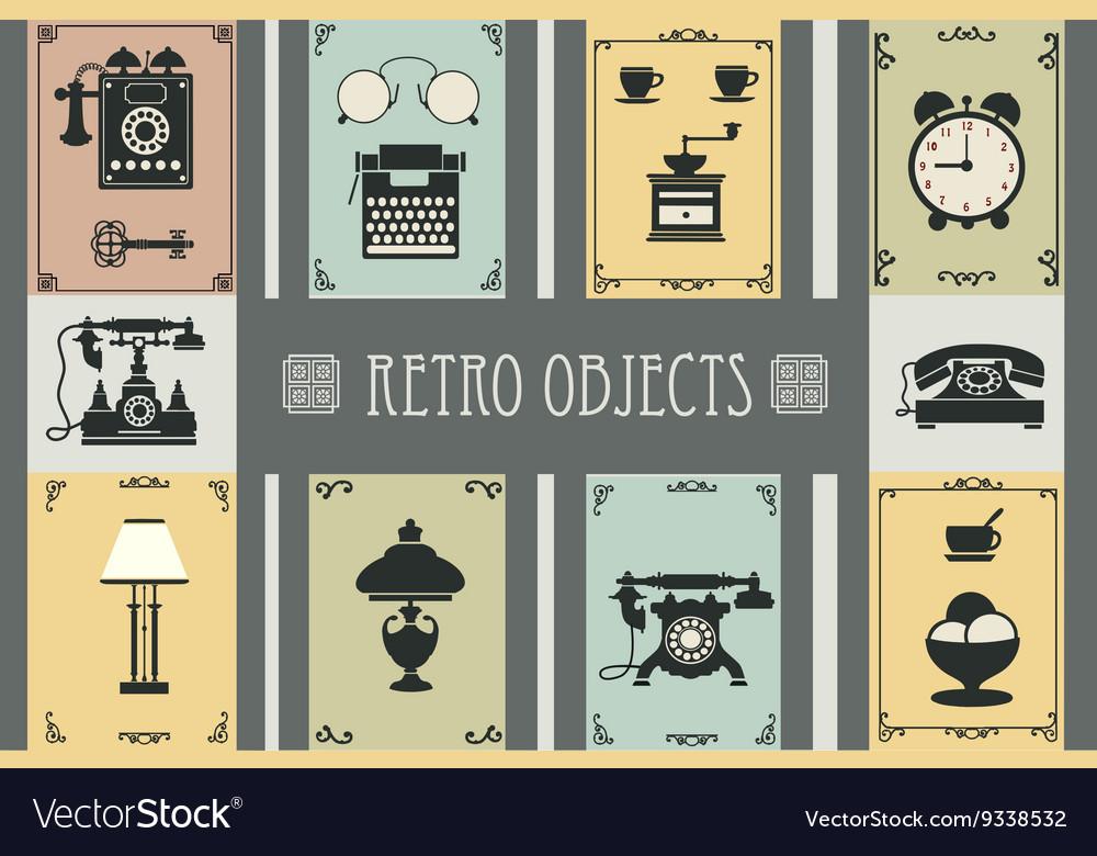 Set of retro household vector image