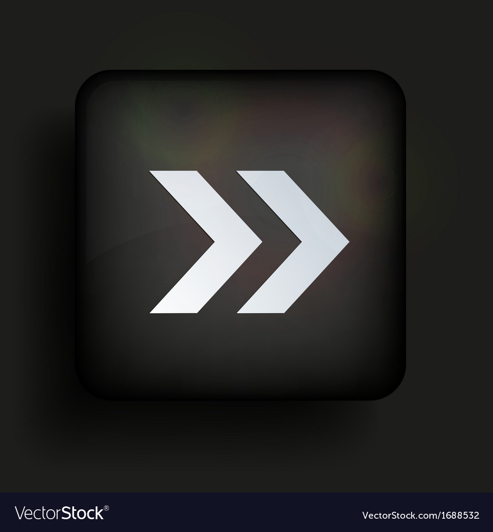 Square icon on black background Eps10