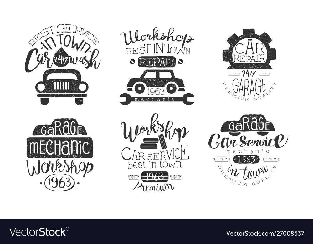 Car wash best in town premium quality retro labels