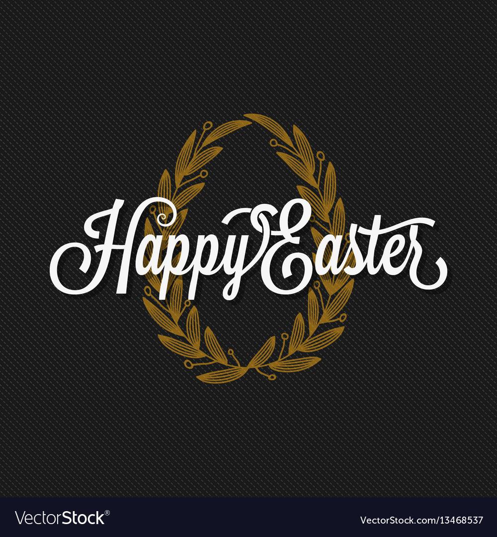 Easter vintage lettering egg background