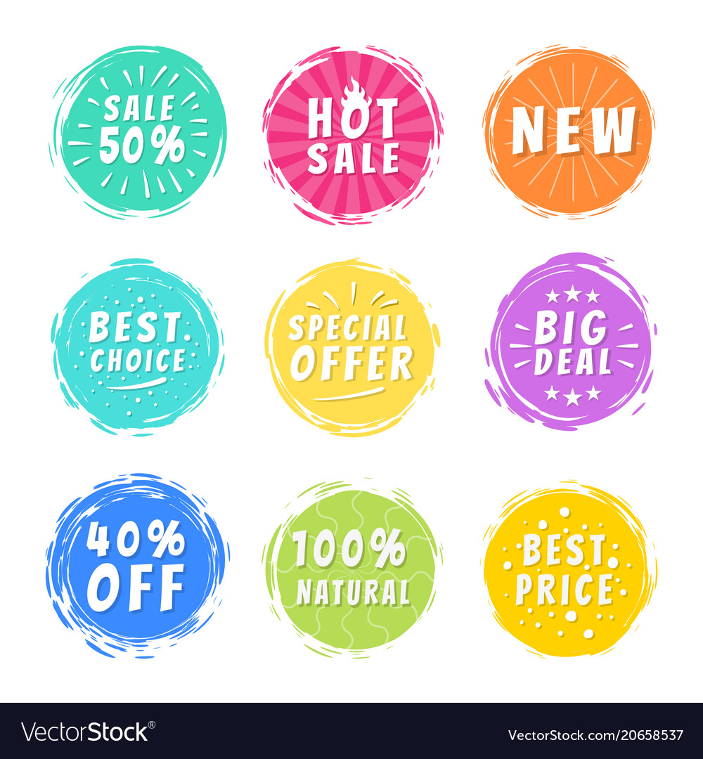 Sale 50 best choice special offer promo stickers