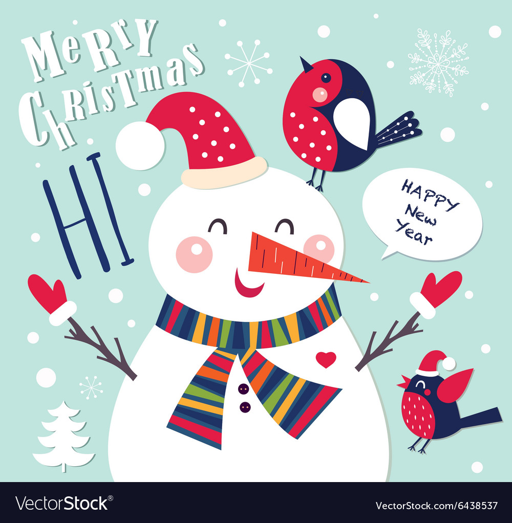 Snowmen christmas design