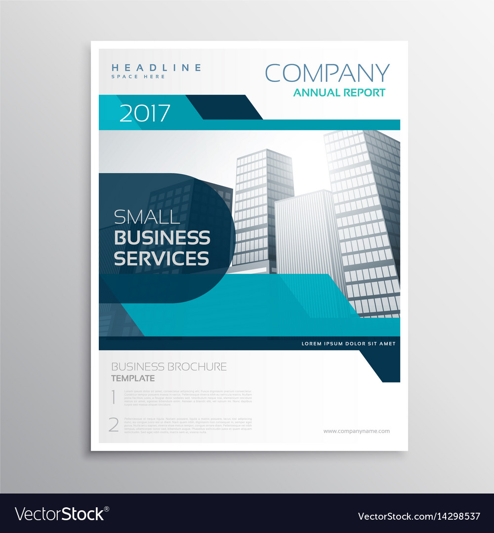 stylish blue business brochure creative design in vector image