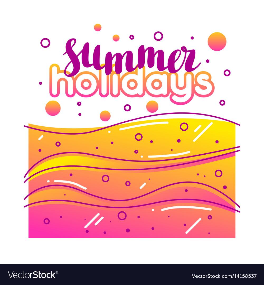 Summer holidays on sandy beach stylized