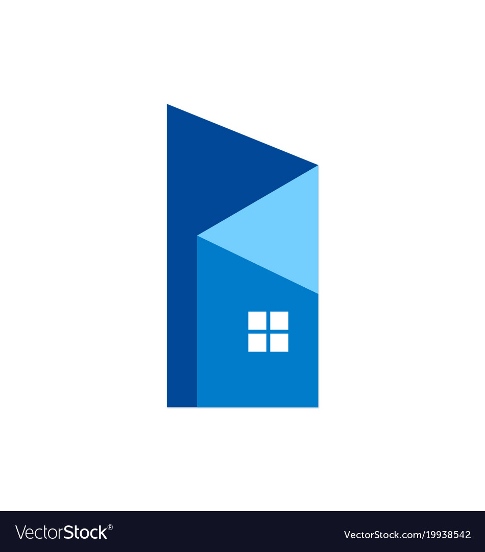 Abstract home building design logo vector image