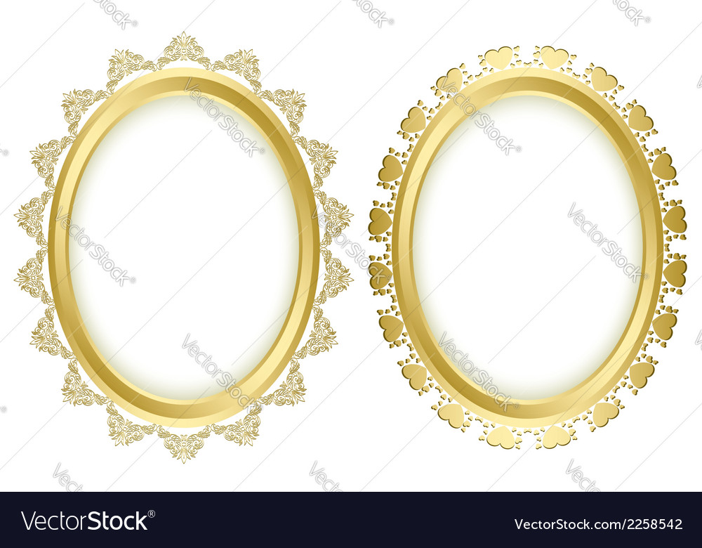 Beautiful decorative frames Royalty Free Vector Image
