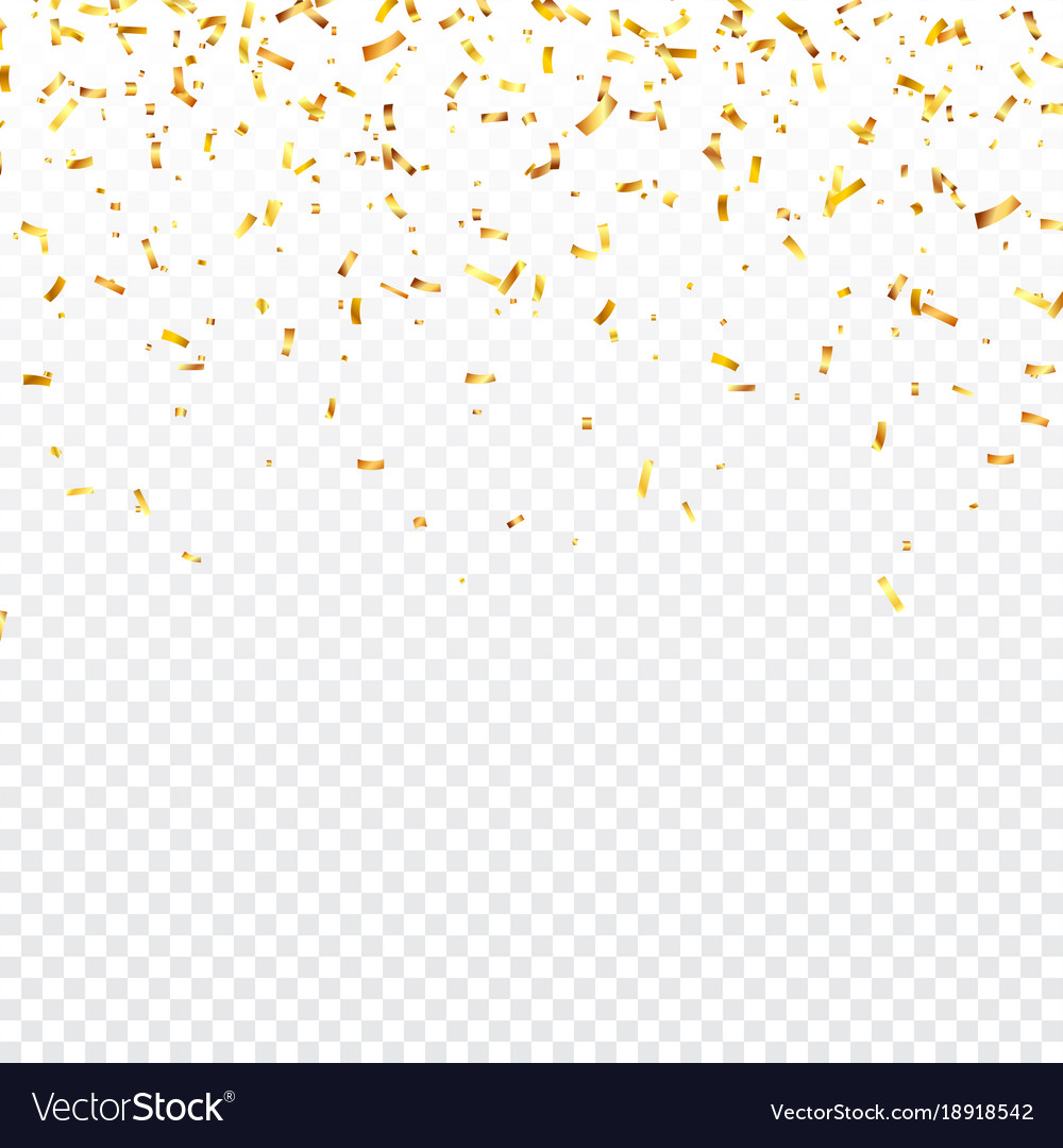 christmas golden confetti falling shiny confetti vector image rh vectorstock com confetti vector background free vector confetti pattern