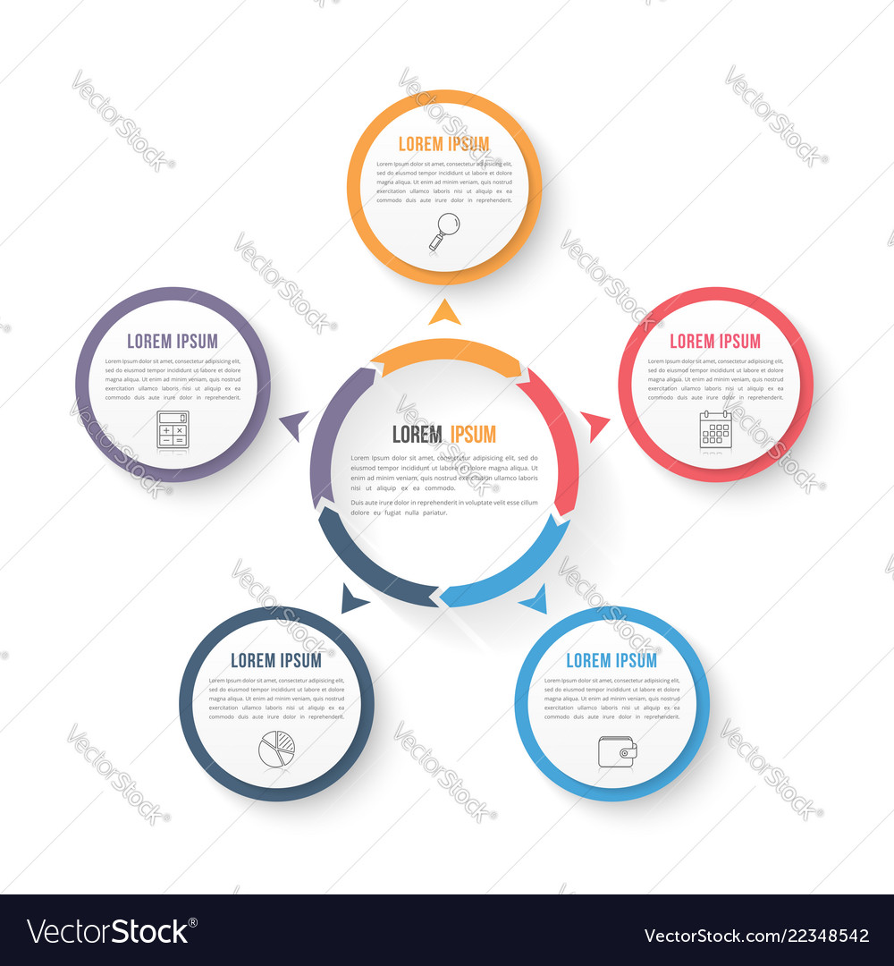 Circle infographic template with three elements