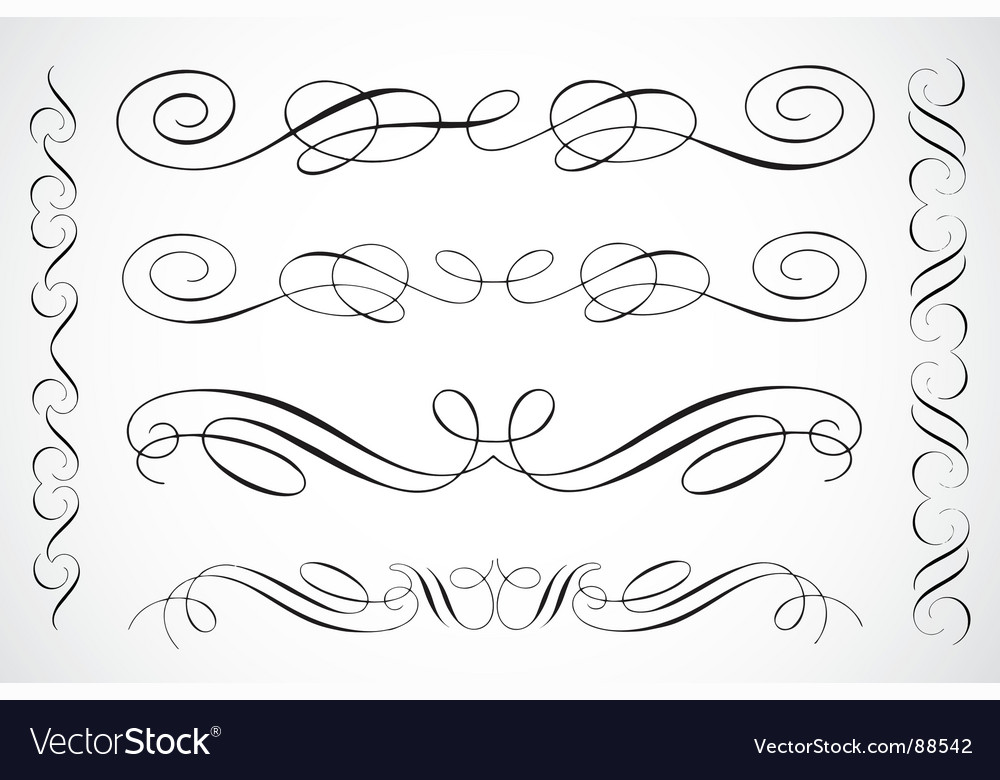 flourishes royalty free vector image vectorstock rh vectorstock com vintage vector flourishes and ornaments flourishes vector free