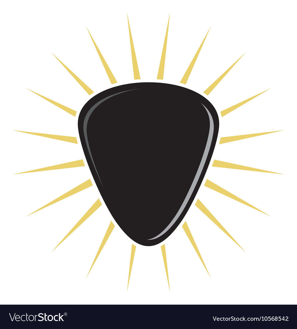 guitar pick royalty free vector image vectorstock rh vectorstock com guitar pick vector free guitar pick outline vector