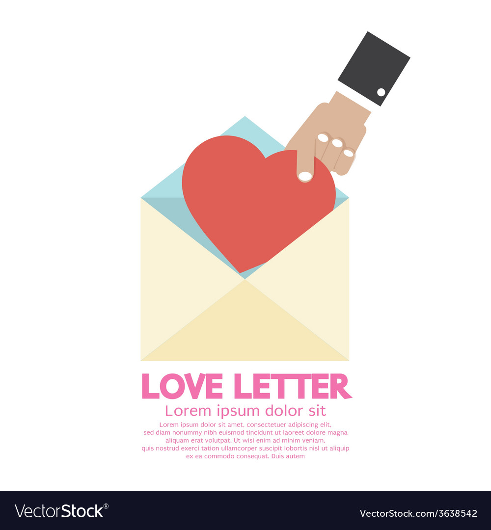 Hand Pick A Heart Love Letter Concept