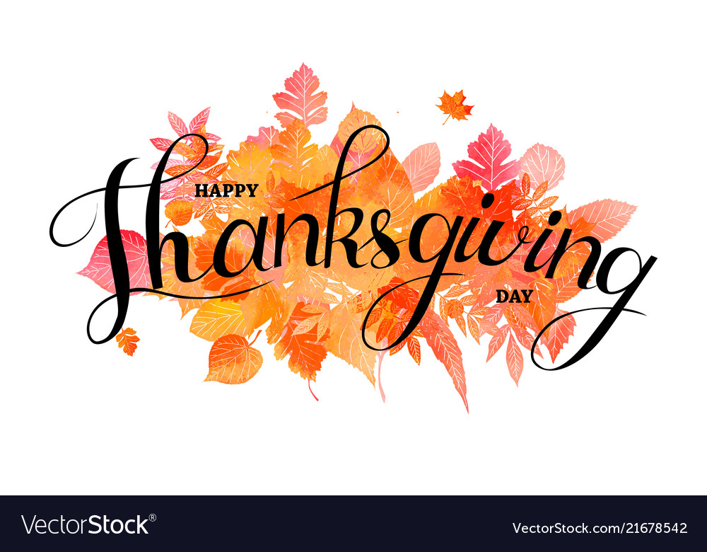 Happy thanksgiving day poster