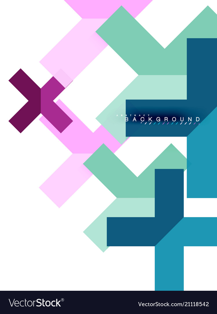 Multicolored abstract geometric shapes geometry