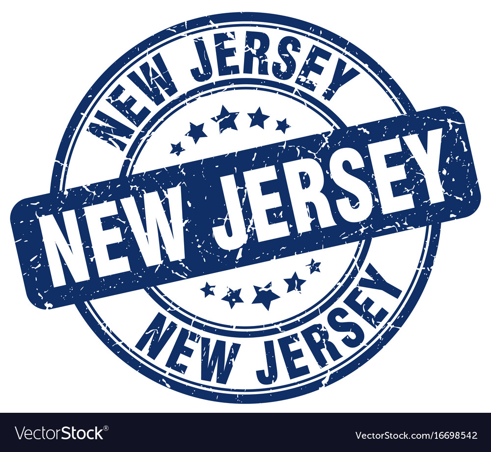 New Jersey Stamp Royalty Free Vector Image