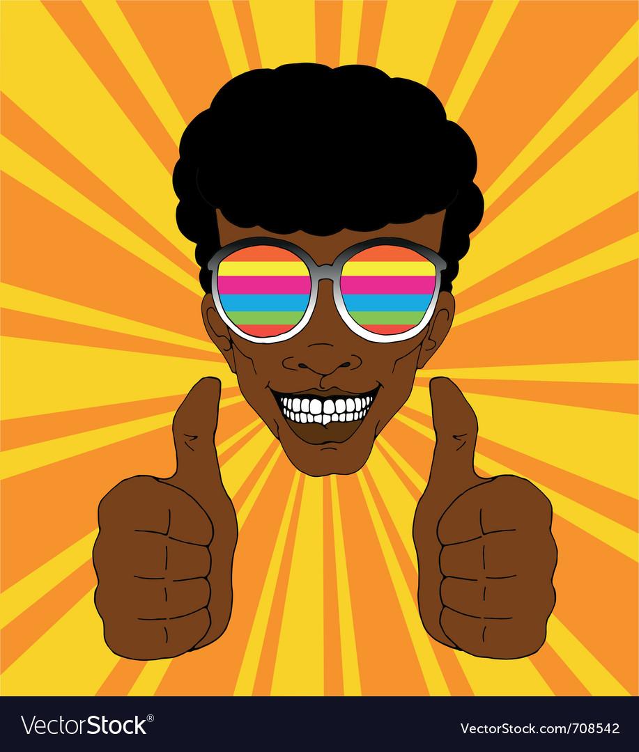 Positive man vector image