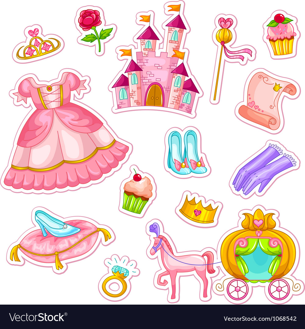 Princess collection vector image
