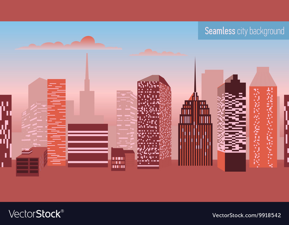 Seamless pattern with architectural building