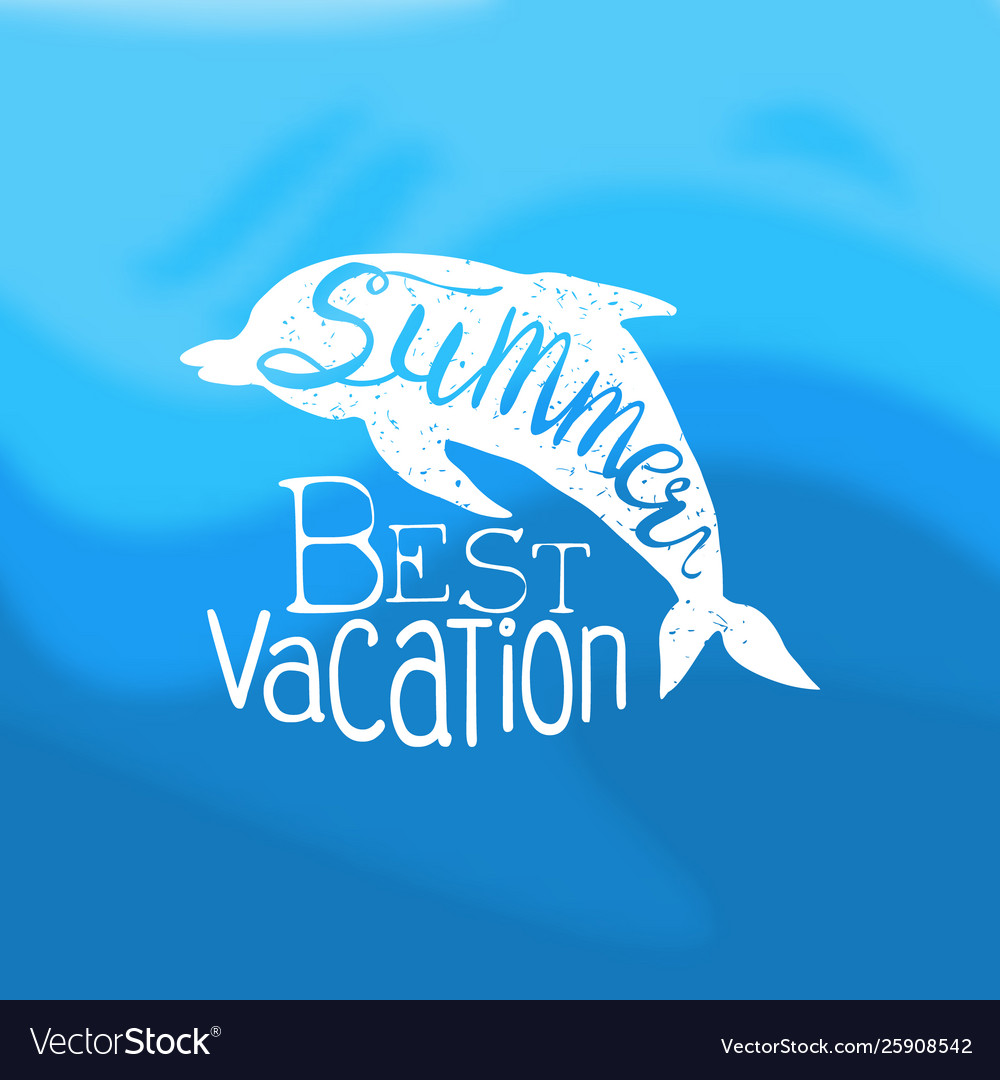 Summer best vacation template design element can