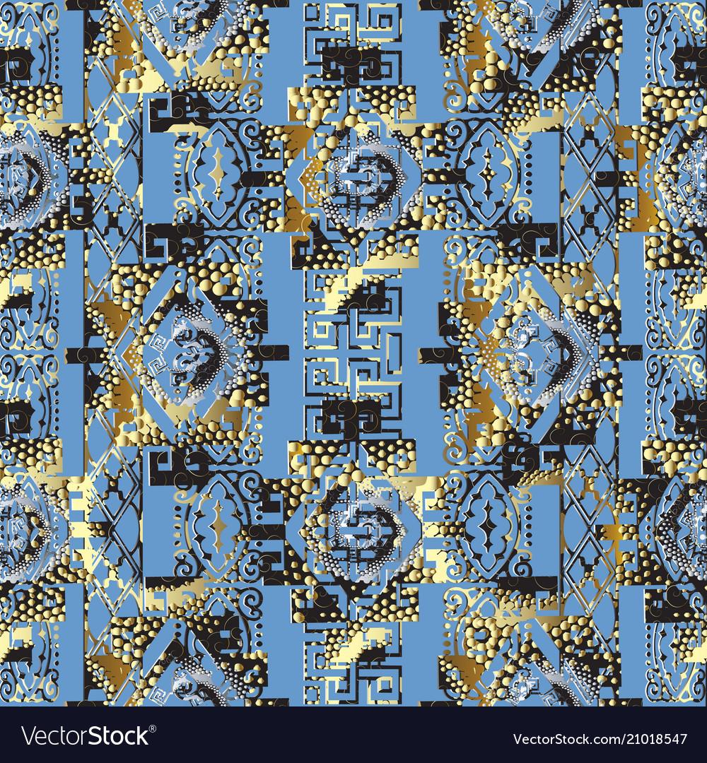 Abstract geometric 3d seamless pattern