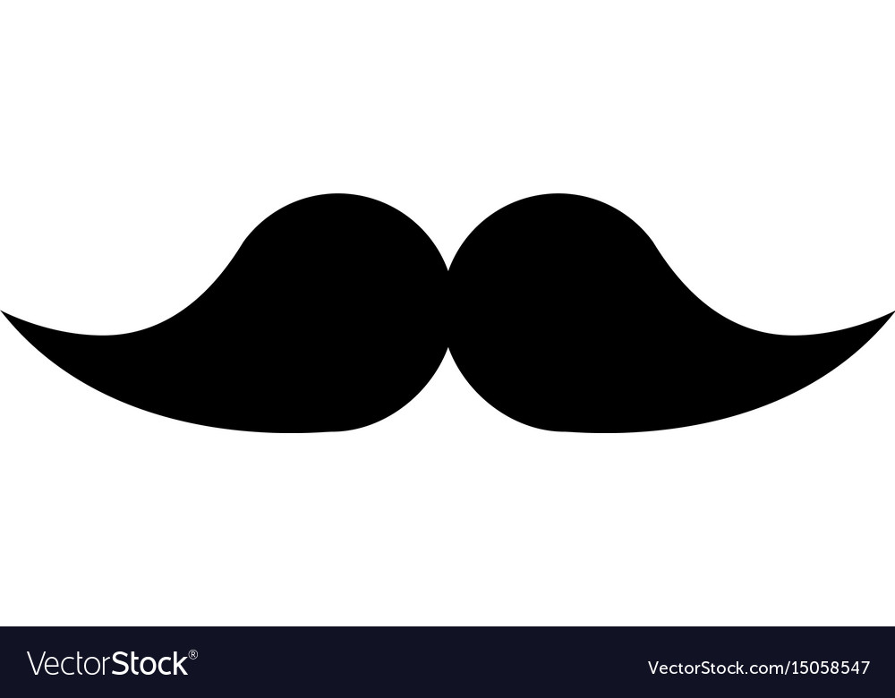 black icon moustache cartoon royalty free vector image rh vectorstock com cartoon mustache cartoon moustache png
