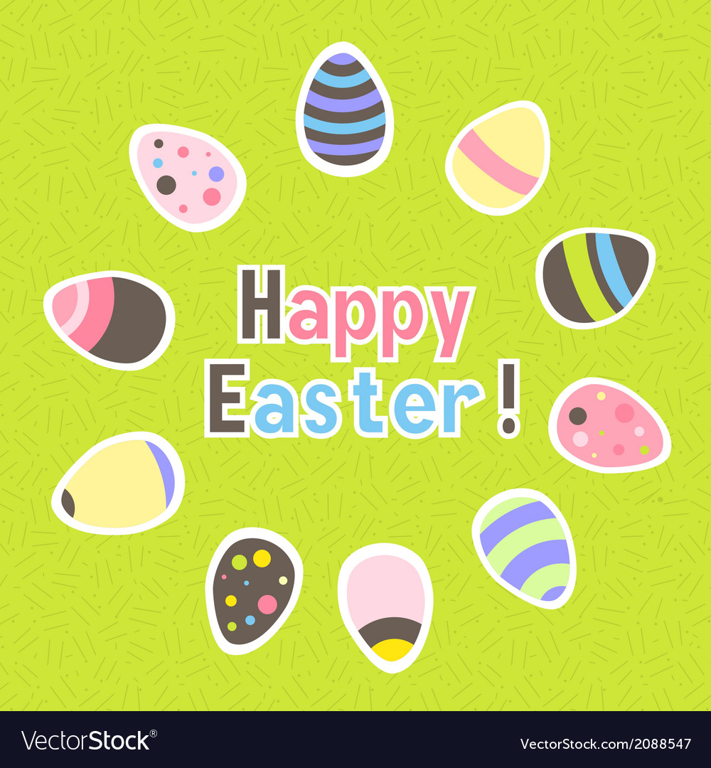 Eastern colorful green greeting card vector image