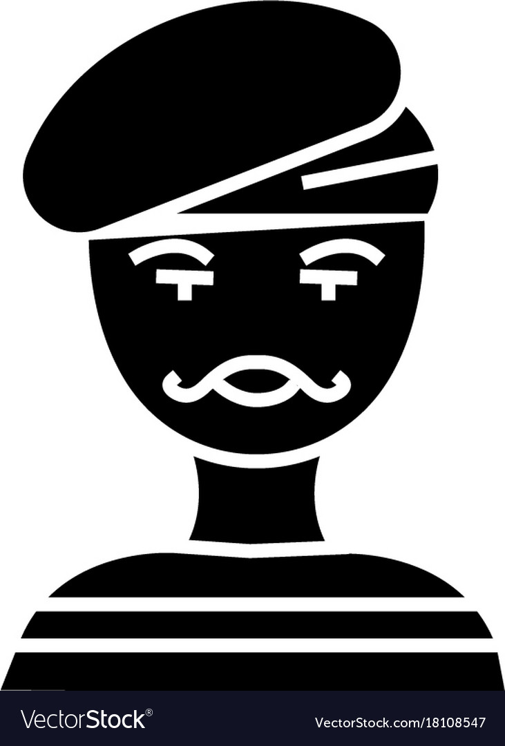 French man - artist - mime icon