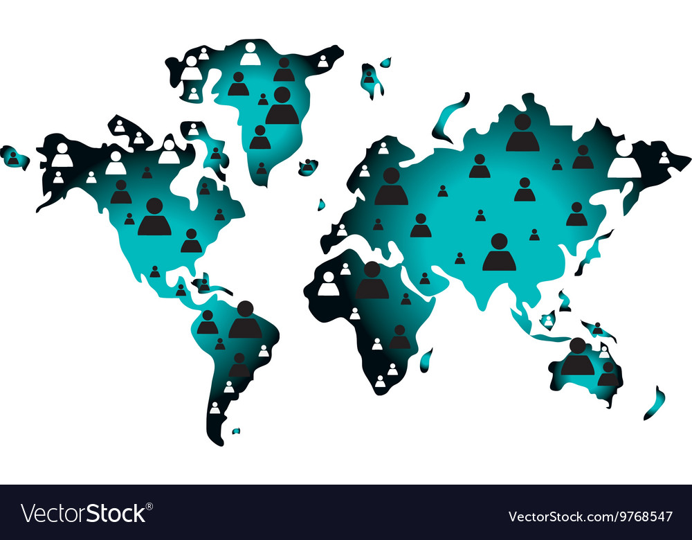 Geometric texture world map icon royalty free vector image geometric texture world map icon vector image gumiabroncs Gallery