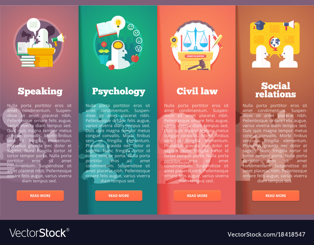 Social civil and public relations civil law vector image